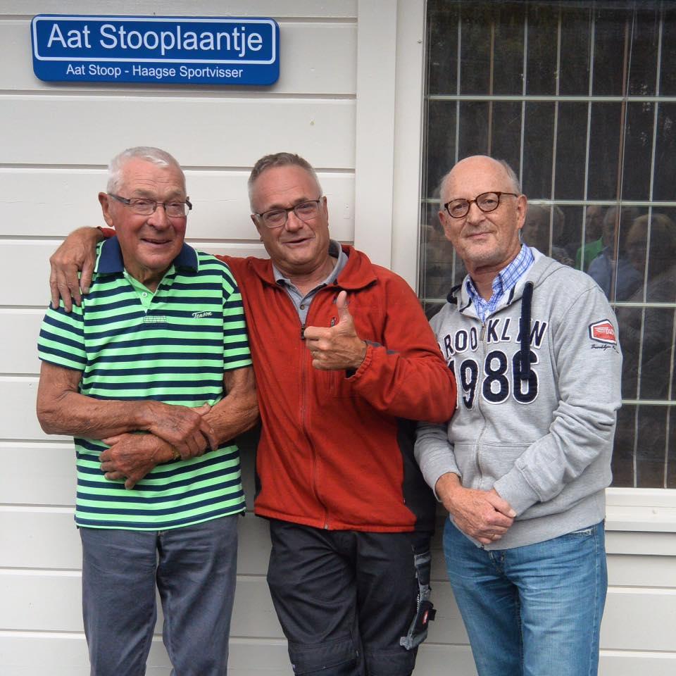 Ed en Aad Stoop en Ton van der Spiegel.