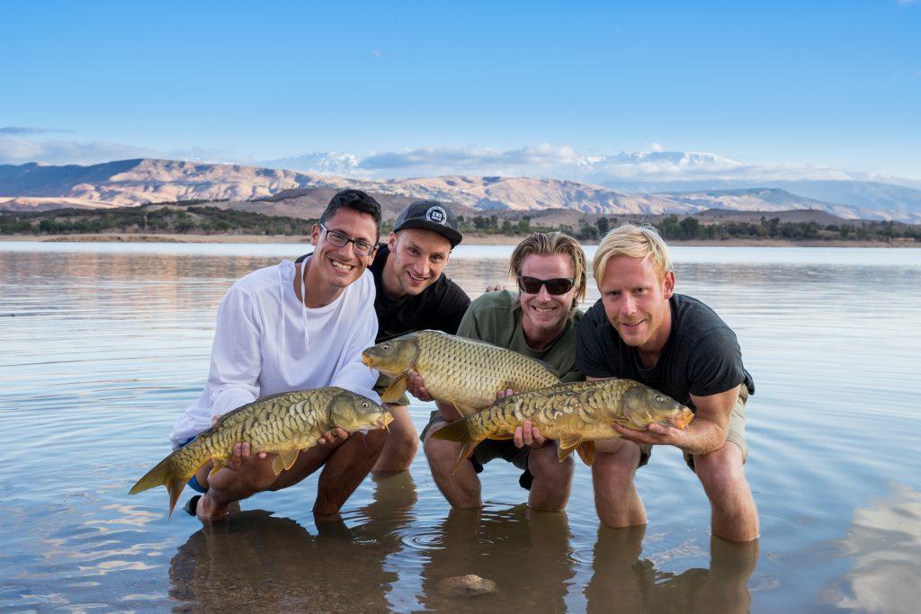 Michiel Pilaar, Mark Hofman, Jos Benders en Bas van Klaveren in Marokko karpertrip KWO