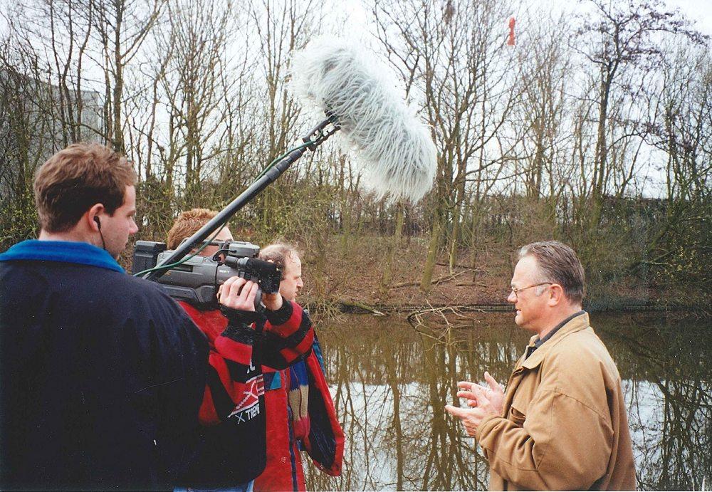 Ed in 1996, tijdens de opnames voor het eerste seizoen VIS TV.