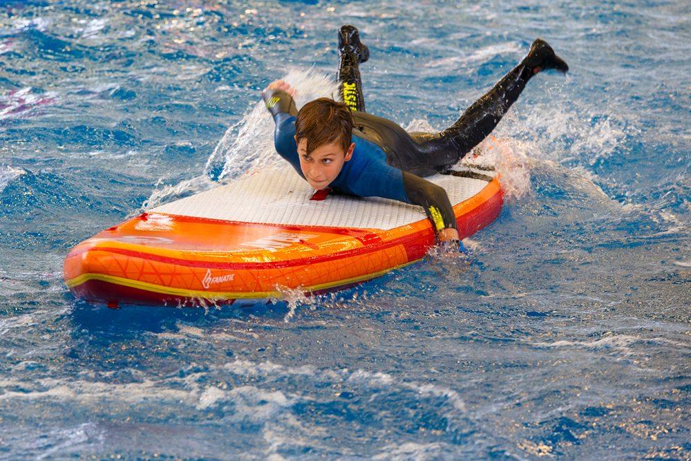 De Funsports Xperience was vorig jaar voor het eerst onderdeel van de HISWA Amsterdam Boat Show, maar was deze editie al twee keer zo groot.