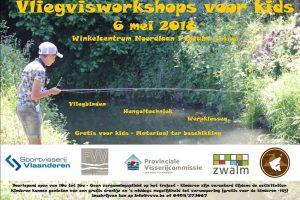 Op zondag 6 mei organiseert v.z.w. Vliegvissen Vlaamse Ardennen (VVVA) een vliegvisworkshop voor kids op het riviertje de Zwalm.