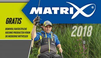 De 68 pagina's dikke 2018 Matrix catalogus staat vol met de nieuwste producten speciaal voor de wedstrijd- en recreatieve visser en met de extreem populaire Matrix items die al verkrijgbaar waren!
