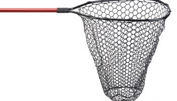 Het recent geïntroduceerde Rubber Scoop landingsnet van Iron Claw heeft een 50 cm diep rubber net, de steel is 100 cm lang, het net heeft een opening van 60 x 50 cm.