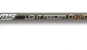 De 3,55 meter lange MS Range Light Feeder Classic is gebouwd op een high carbon blank met een geweven carbon versterking, ze heeft een werpvermogen tot 55 gram.