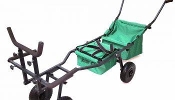 De 'Single Wheel' trolley meet 170x57x80 cm en is snel op te bouwen en af te breken. In de auto neemt ze weinig ruimte in. Met de '4 Wheels' trolley kun je ook de steilste hellingen zonder problemen op en af rijden.