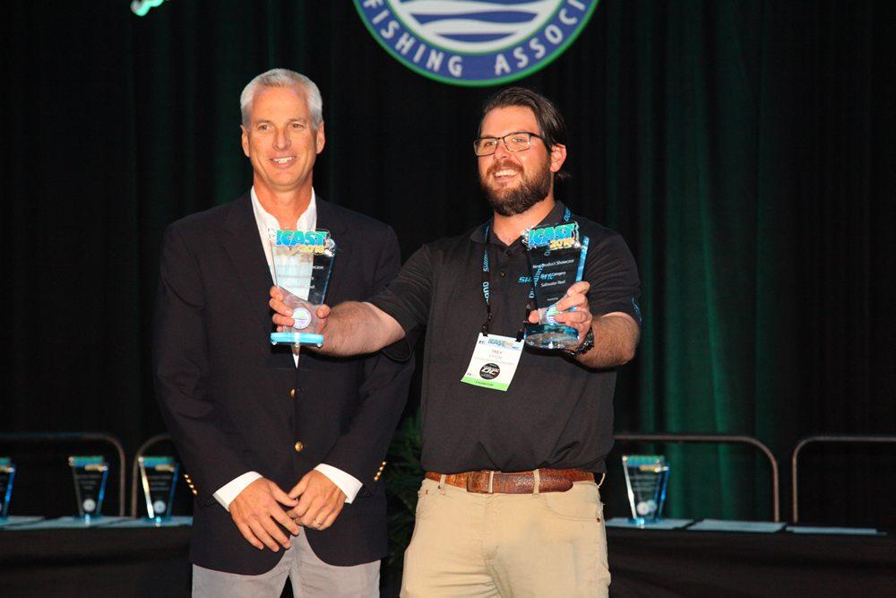 Shimano kreeg de awards voor de beste zoetwater en zoutwater reels/werpmolens.