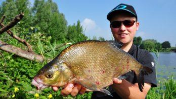 Matchvissen vaste montage met Lucien de Rade