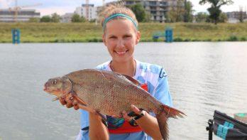 Anja Groot in actie tijdens Open Nederlands Kampioenschap