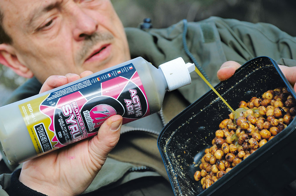 De tijgernoot liquid zorgt voor wat extra smaak aan het aas.