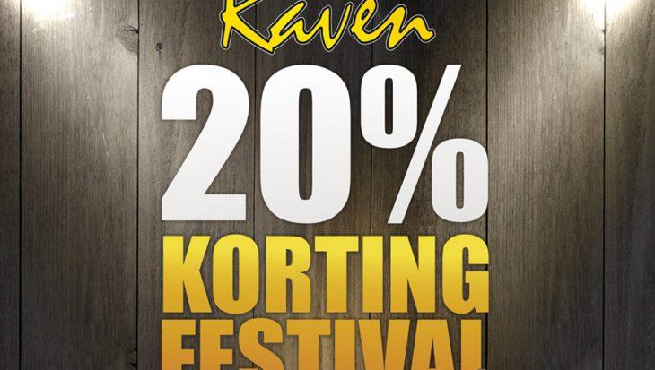 Kortingsfestival bij Raven Hengelsport