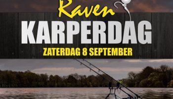 Zaterdag 8 september organiseert Raven Hengelsport een dag vol met demonstraties en acties voor alle karpervissers, de karperdag!