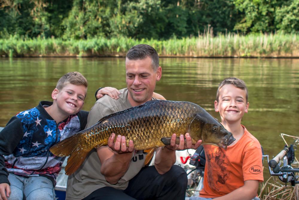 Vangst met de boys.