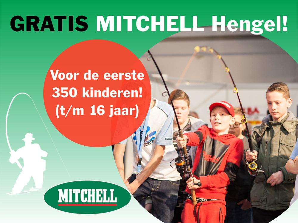 Voor de eerste 350 jeugdige bezoekers is er bovendien een gratis 'Mitchell'-hengel'' te ontvangen, terwijl diezelfde kids ook een pak 'Berlok' lokvoer meekrijgen.