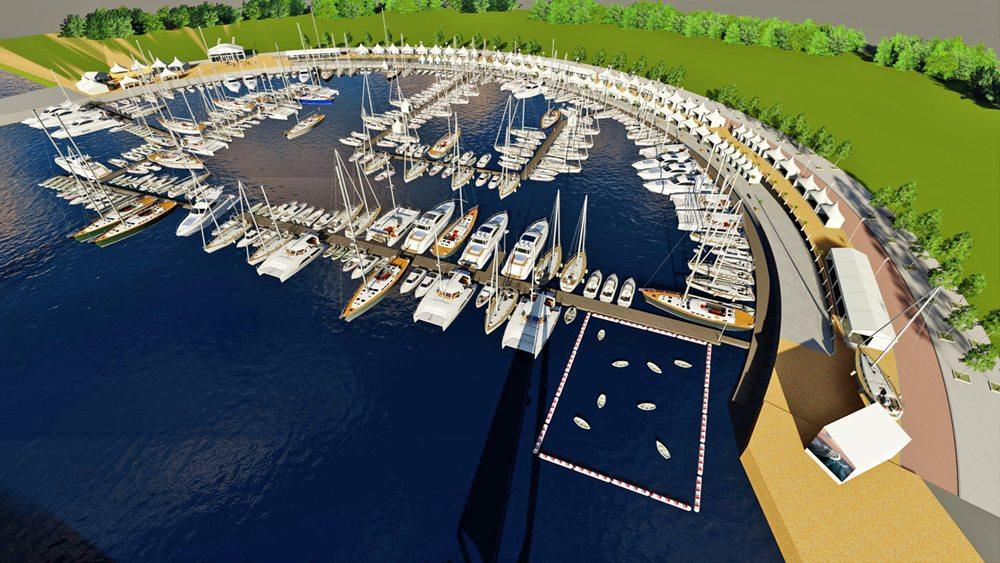 Vanuit iedere positie en elk terras op de Arena-vormige kade is er perfect zicht op het aanbod in de haven en de activiteiten die er plaatsvinden.