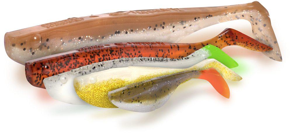 Zebco introduceert nu ook softbaits van Mann's met V-staart, volgens het model van de originele Mann's Fine-Fish.
