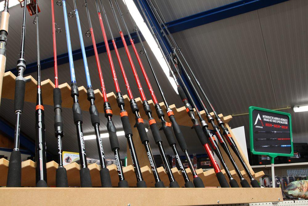 Exclusief voor Nederland heeft Hengeldiscount de roofvishengels van Airrus in het pakket opgenomen, juweeltjes van hengels voor diverse roofvismethodes.