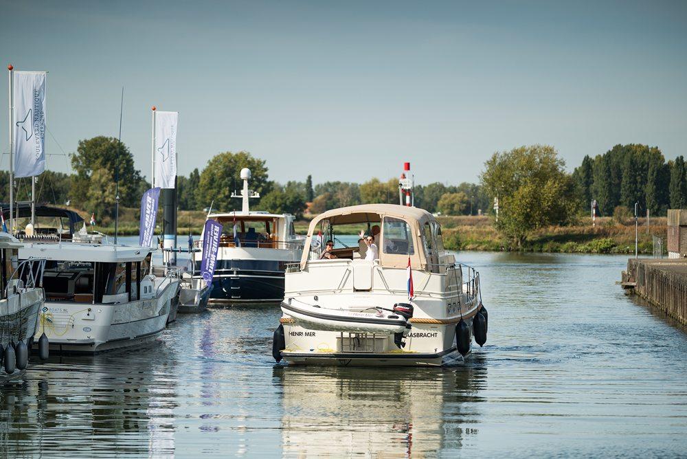 """Yvonne Linssen van Linssen Yachts uit Maasbracht: """"Middels dit initiatief is een bootshow als Motorboot Sneek in Friesland, voor Limburg en de gehele Euregio geen 'ver-van-ons-bed-show' meer, maar de realiteit."""""""