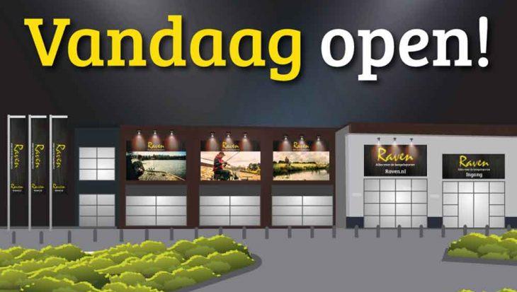 Vandaag opening nieuwe winkel Raven Hengelsport in Lelystad