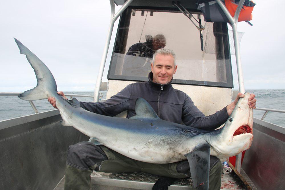 Blauwe haai voor Martijn Dekkers.
