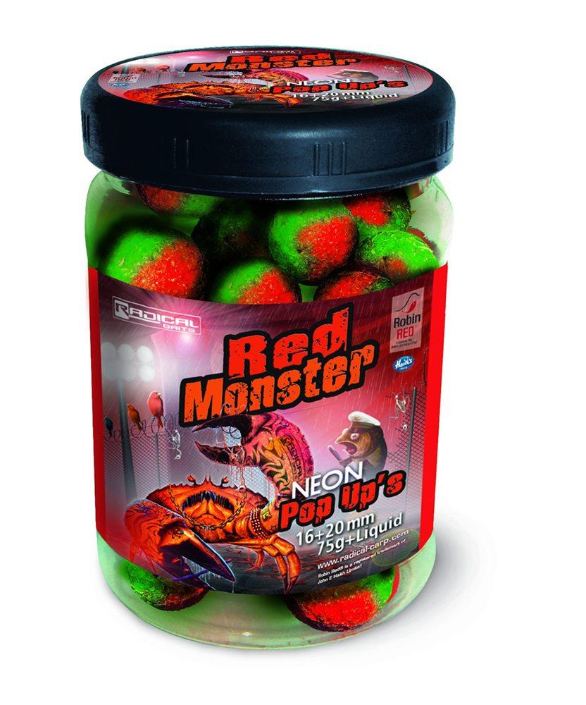 De Neon Pop-Up boilie past perfect bij de Red Monster boilies.