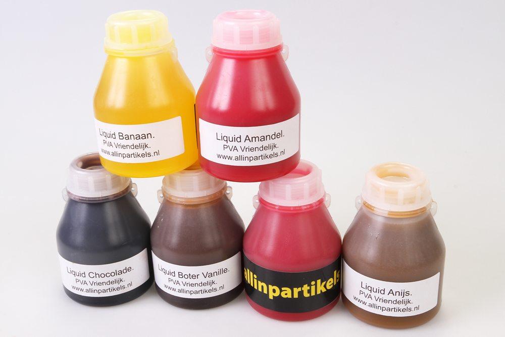 Allinpartikels komt ook met een nieuwe serie PVA-vriendelijke liquids naar de beurs in Zwolle. De beschikbare smaken zijn Amandel, Banaan, Chocolate, Boter Vanille, Chewing Gum en Anijs.