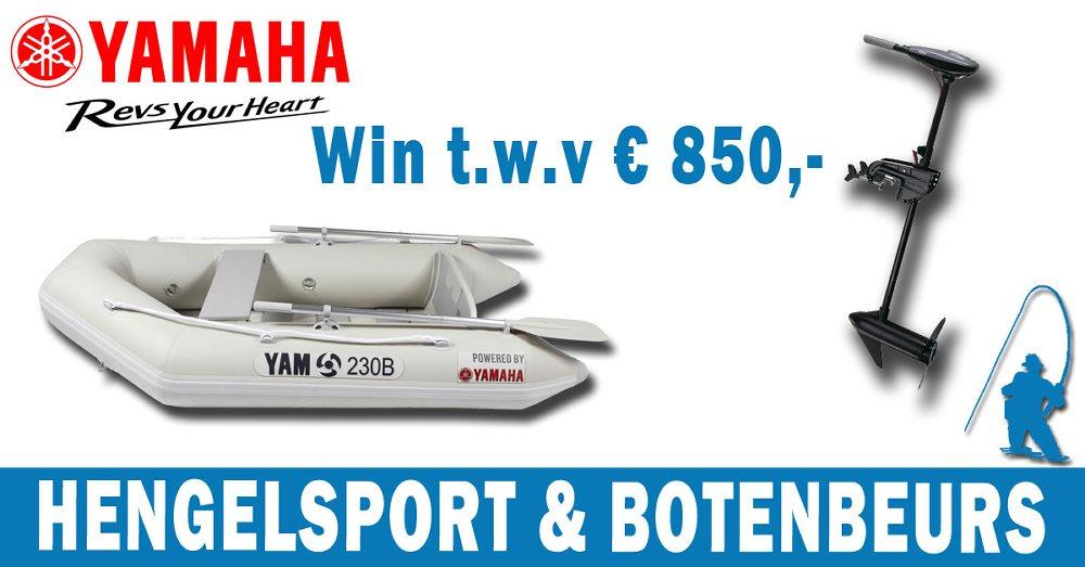 Alle bezoekers die voor 30 november een ticket hebben gekocht, maken bovendien kans op een Yamaha-boot in combinatie met een Yamaha elektrische buitenboordmotor t.w.v. € 850!
