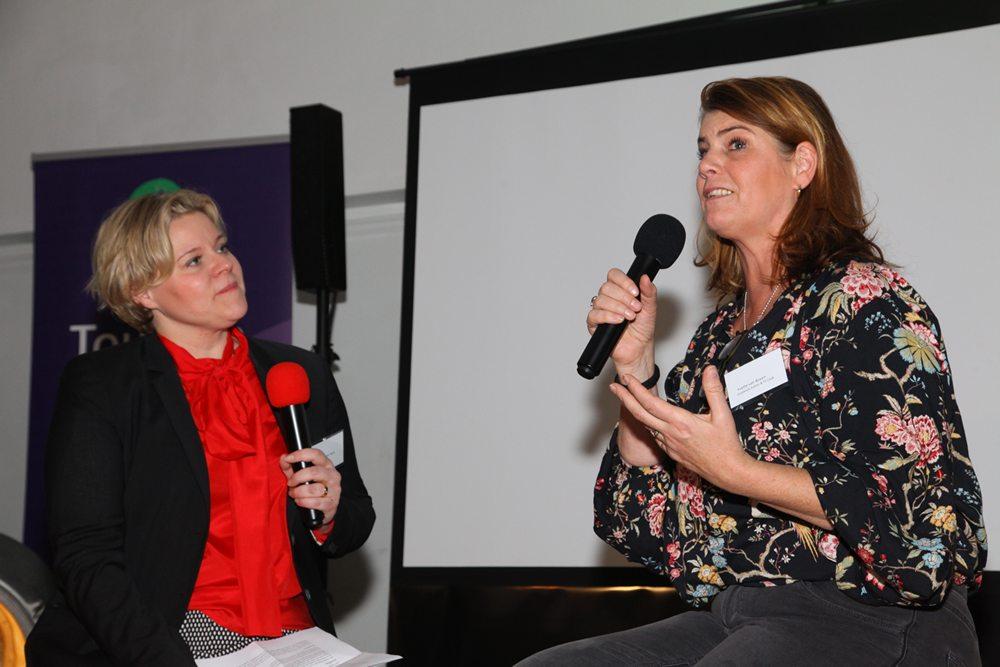 Karen van der Horst stelde ook enkele vragen aan Yvette van Boven, die middels een boek en tv-producties de Ierse keuken promoot.