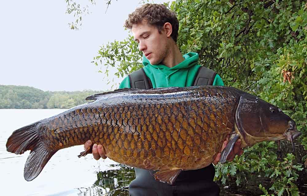 Op afstand gevoerd en gevangen: Moritz Rott heeft een succesvolle tactiek ontwikkeld voor het vissen op karper op grote afstanden.
