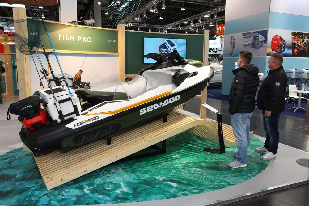 De nieuwe Fish Pro van Sea-Doo is een combinatie van een jetski en een compacte visboot.