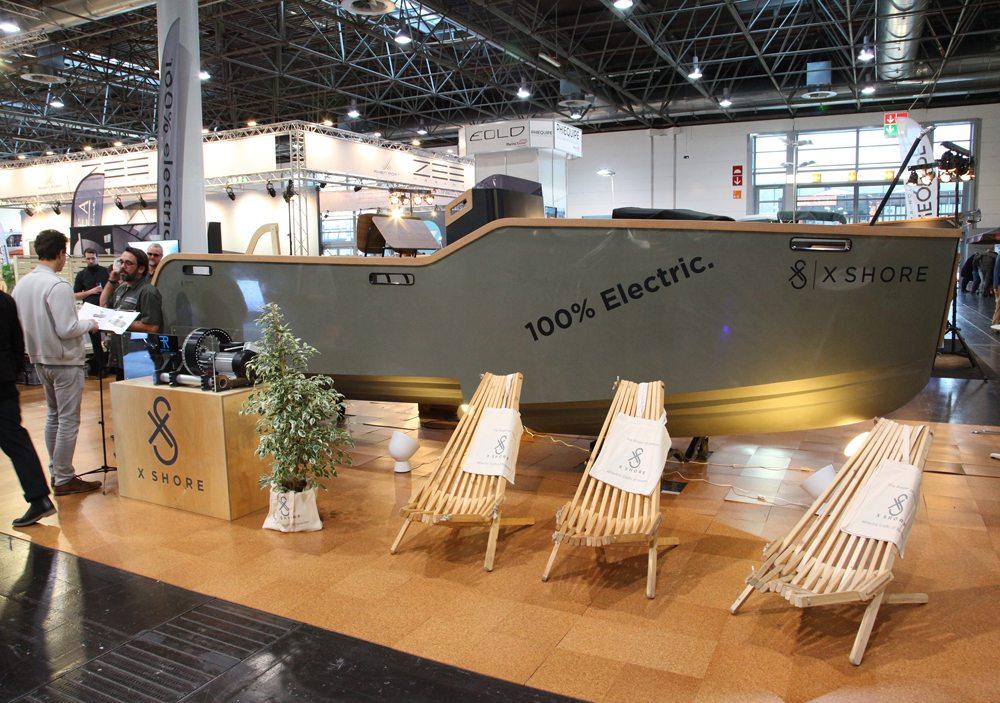 Op boot Düsseldorf werd dinsdag ook de nieuwe Eelex 6500 elektrische boot van de firma X Shore uit Zweden gepresenteerd aan de pers en andere geïnteresseerden.