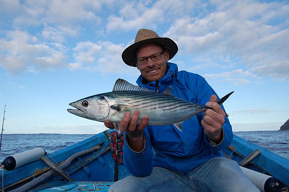 Pieter Beelen met tonijn