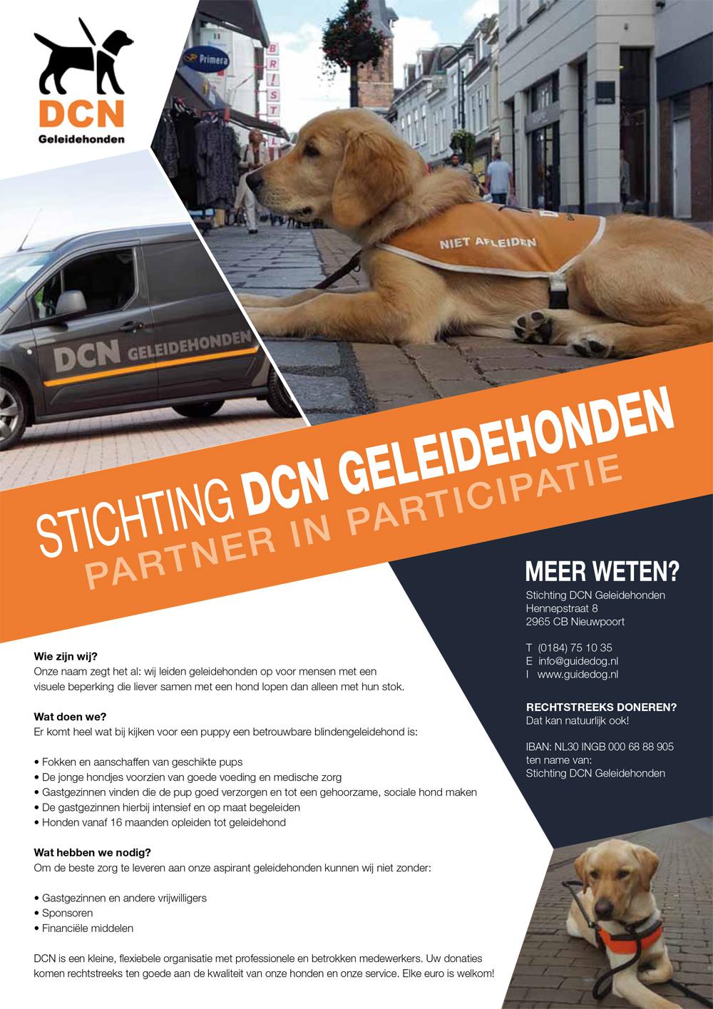Dit jaar wordt er gevist ten bate van de Stichting DCN Geleidehonden.