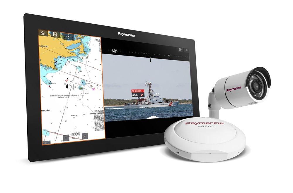 CLEAR CRUISE (AR) - Augmented Reality-display (video-display): live navigatie-objecten op Axiom HD-videodisplay.