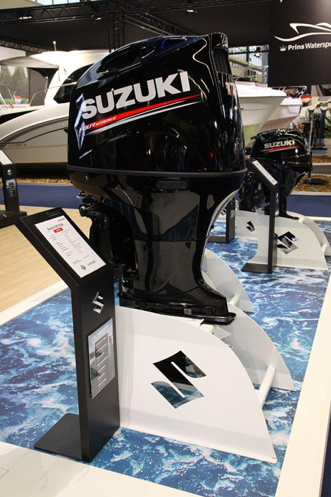 De nieuwe DF175A buitenboordmotor van Suzuki, viertakt, op afstand te besturen en met Power Tilt & Trim.