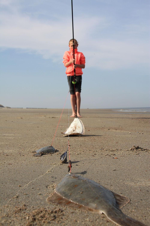 stekken op het strand