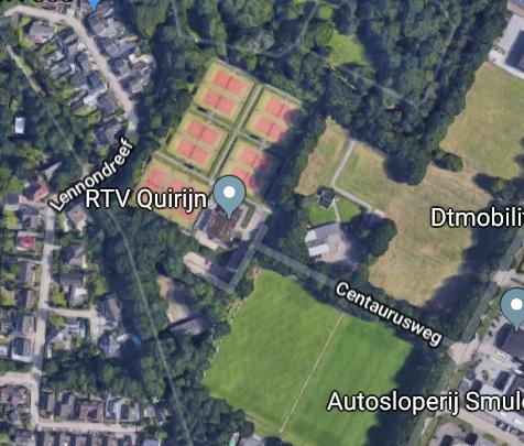 Verzamelen op de parkeerplaats van Tennisvereniging Quirijn – Centaurusweg 142, Tilburg.