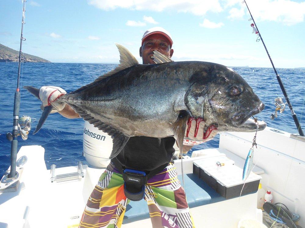 Vissen op GT, bluefin trevally, tonijn, haai, barracuda, wahoo, groupers, snappers, dogtooth tonijn etc. in een super mooie natuur en een relaxte omgeving.