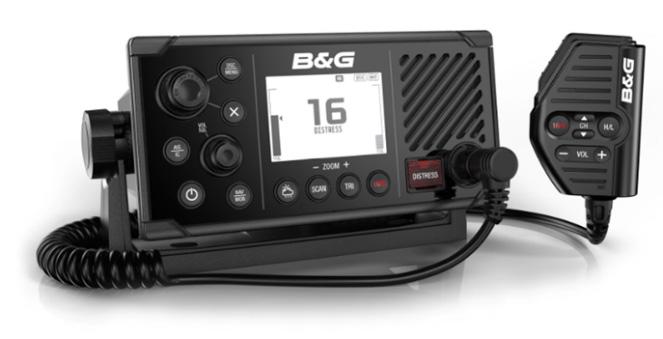 De V60-B heeft een groot scherm, intuïtieve interface, ingebouwde AIS-transponder van klasse B, een ontwerp met bevestiging aan de voorzijde voor eenvoudige installatie en optionele draadloze H60 handsets met inductieve oplaadfunctie.
