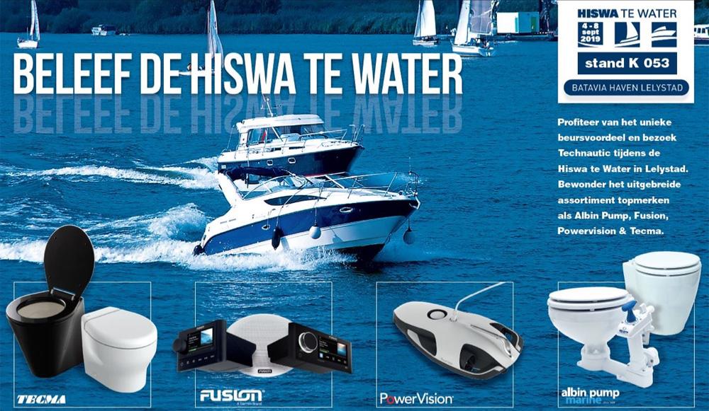 Van 4 tot en met 8 september is de Bataviahaven in Lelystad het toneel voor de HISWA TE WATER. Technautic is terug met topmerken en beursvoordeel.