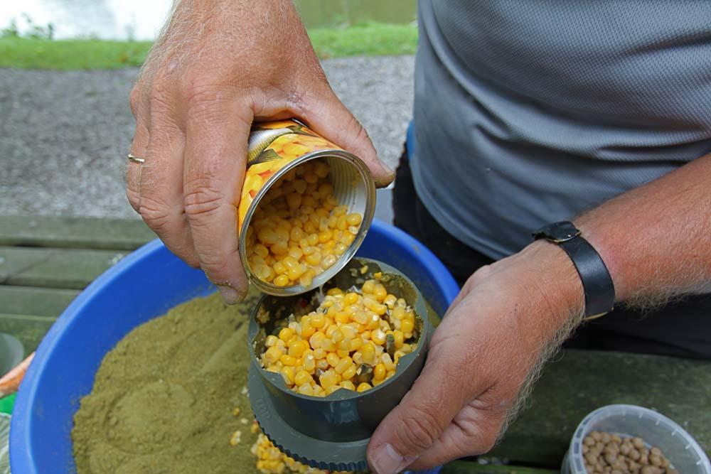voorn vissen met mais