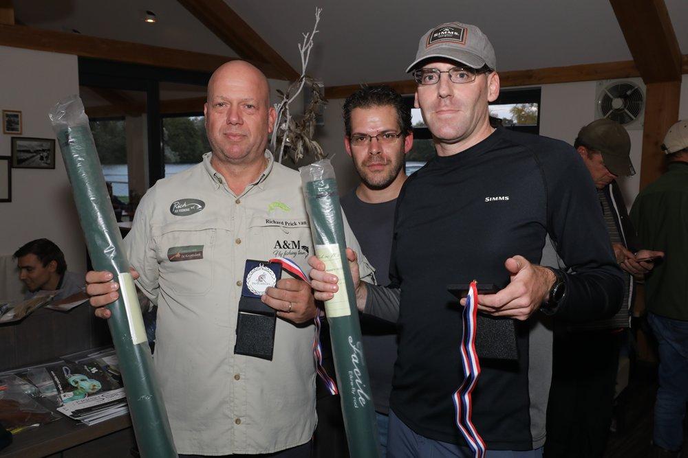 De nummer 2, team R. Prick van Wely / M. Oldhoff met 14 vissen en 48,5 punten.