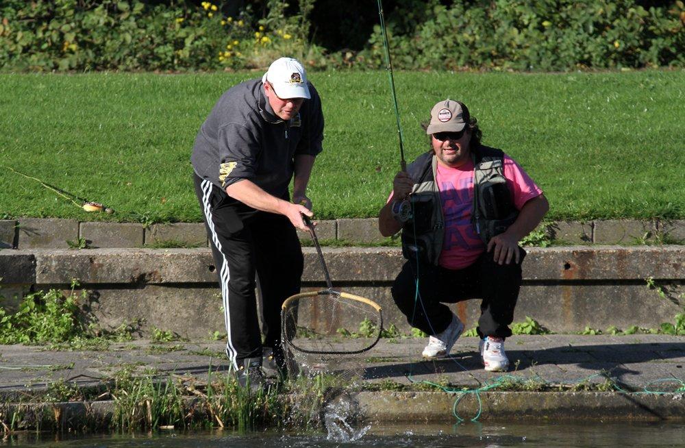 Het loten van de juiste plek maakte veel uit in de rangschikking, maar je moet de vis dan ook nog kunnen vangen.