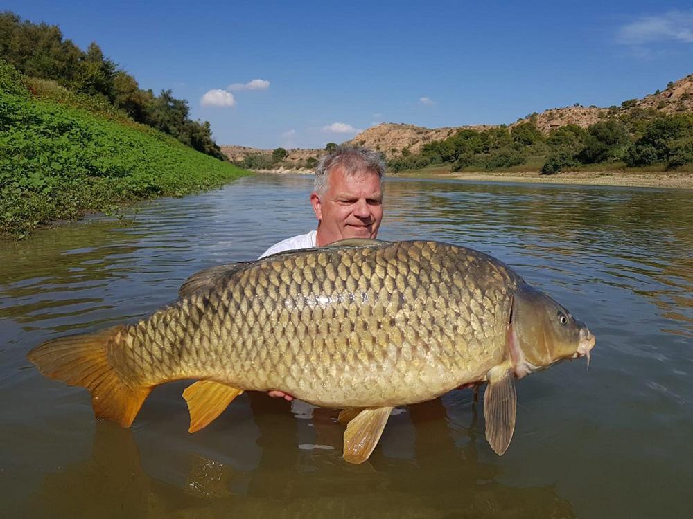 Marc met mooie vissen en karper als bijvangst.