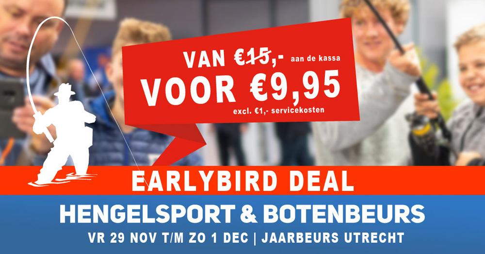 Laatste kans! Boek nu jouw ticket met € 5,- korting voor de Hengelsport- en Botenbeurs