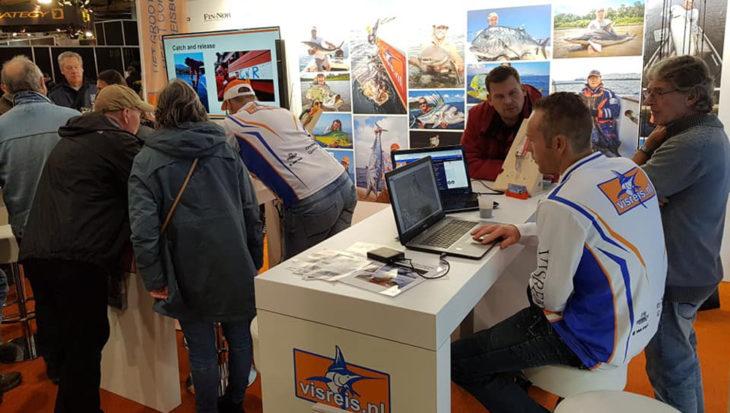 Visreis.nl op de Hengelsport- en Botenbeurs in Utrecht