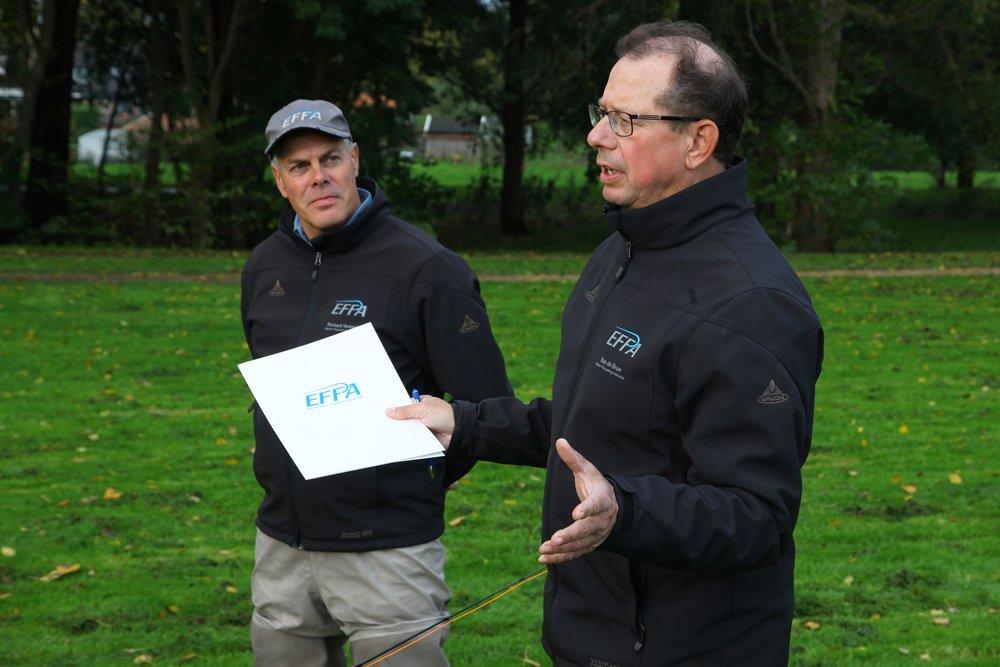 Richard Verbeek (links), Bas de Bruin en Rudy van Duijnhoven fungeerden als examinatoren deze dag.