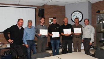 Vier nieuwe EFFA werpinstructeurs in de Benelux