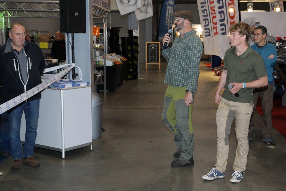 Marco Kraal en Daniël Weijers verzorgden de opening van de beurs op vrijdagmorgen.