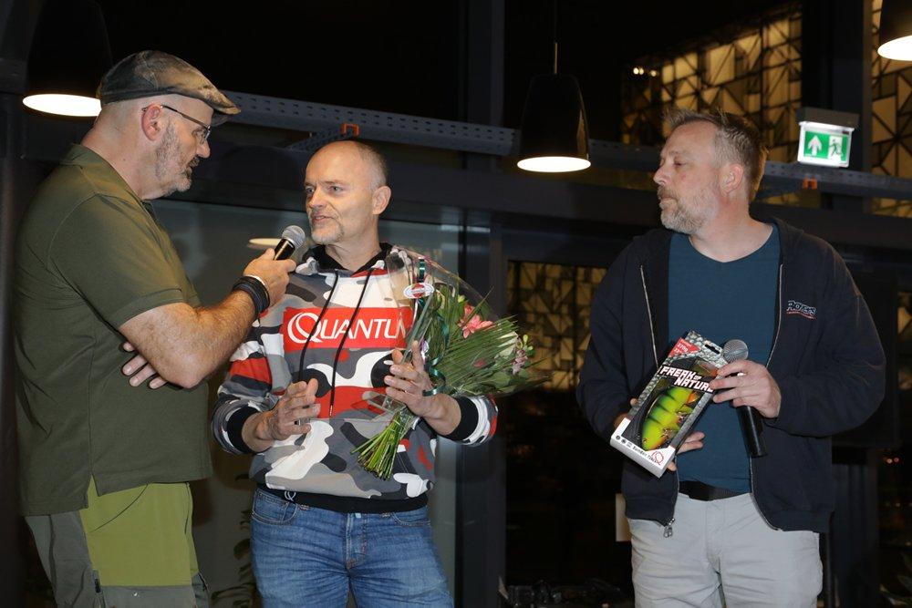 Dietmar Isaiasch van Zebco – Quantum mocht meerdere Best New Product Awards in ontvangst nemen op de zaterdagavond.