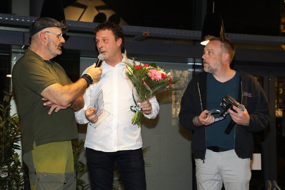 Ook Frans Nestor van Technautic mocht een Best New Product Award in ontvangst nemen.